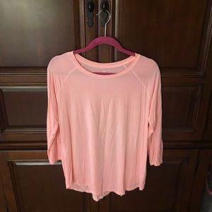 AE Coral Soft 3/4 length sleeve tee, Large